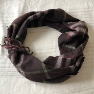 Burberry Mega Check Brown Lambswool Scarf